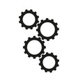 cogwheels work process icons vector image