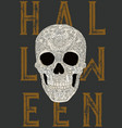 happy halloween skull vector image