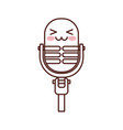 kawaii microphone sound music equipment vector image