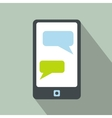 Messages on a phone icon vector image