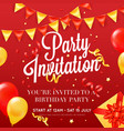party invitation festive colorful poster vector image