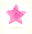 Pink watercolor star vector image