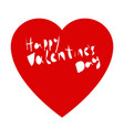 valentines day lettering heart on a white vector image