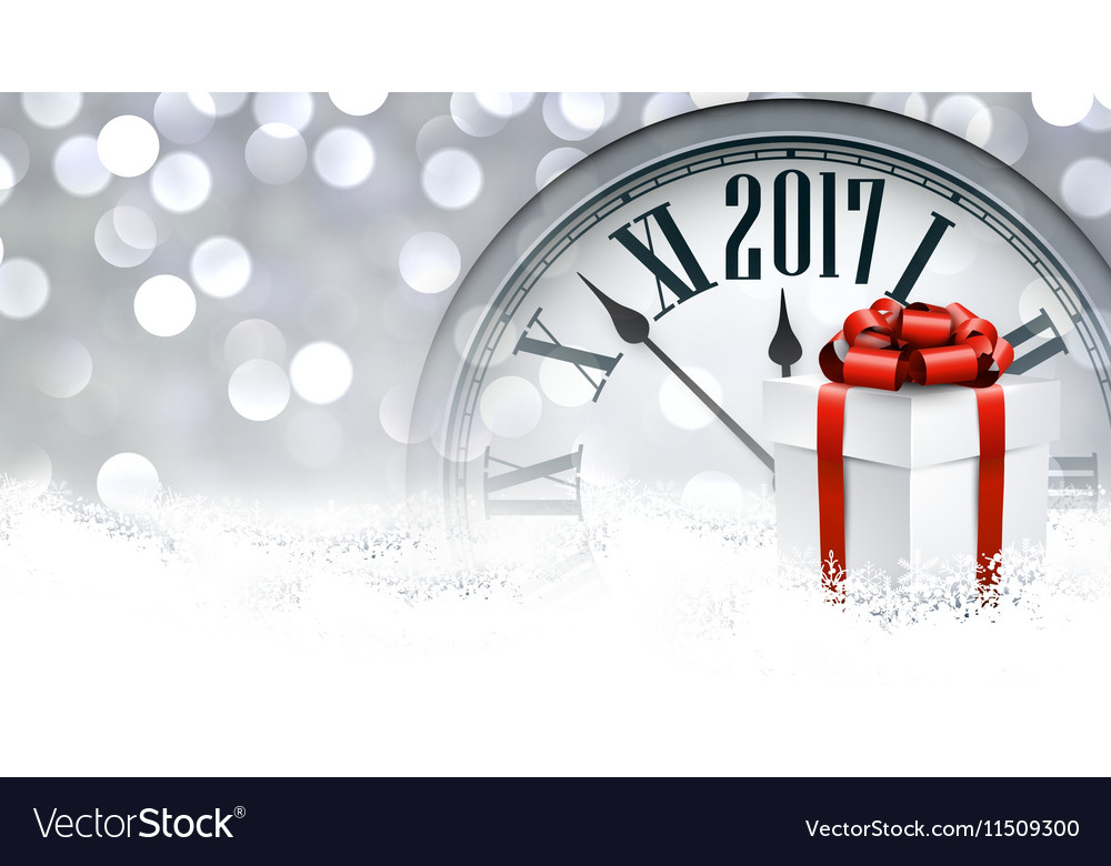 2017 new year background vector