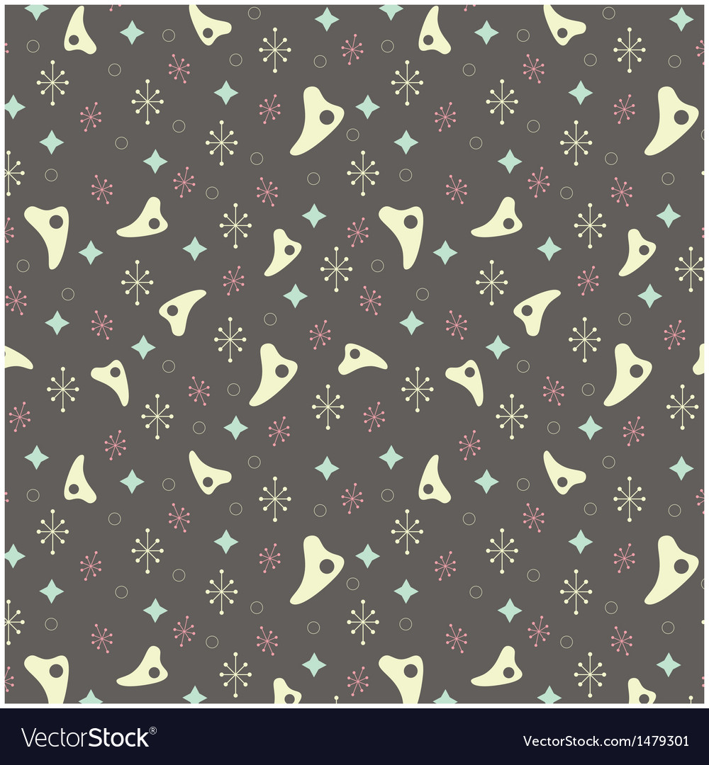 1950s retro style pattern background vector