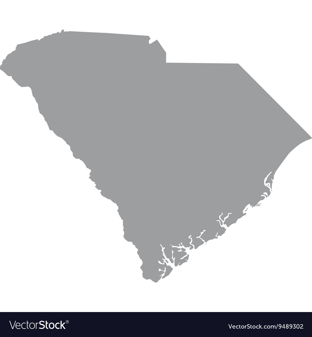 Map us state of south carolina vector