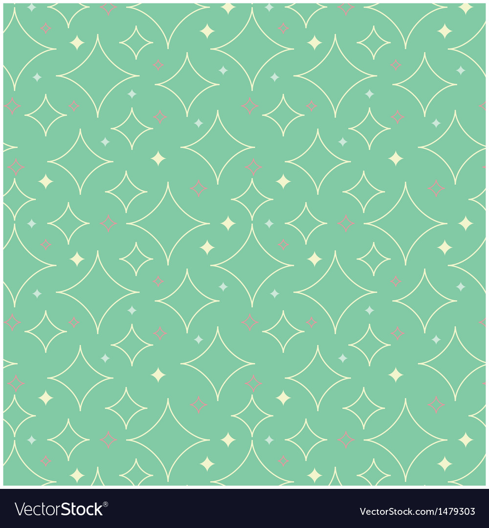1950s stars pattern background vector