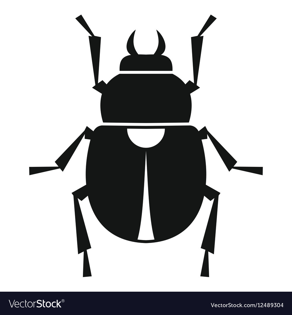 Scarab icon simple style vector