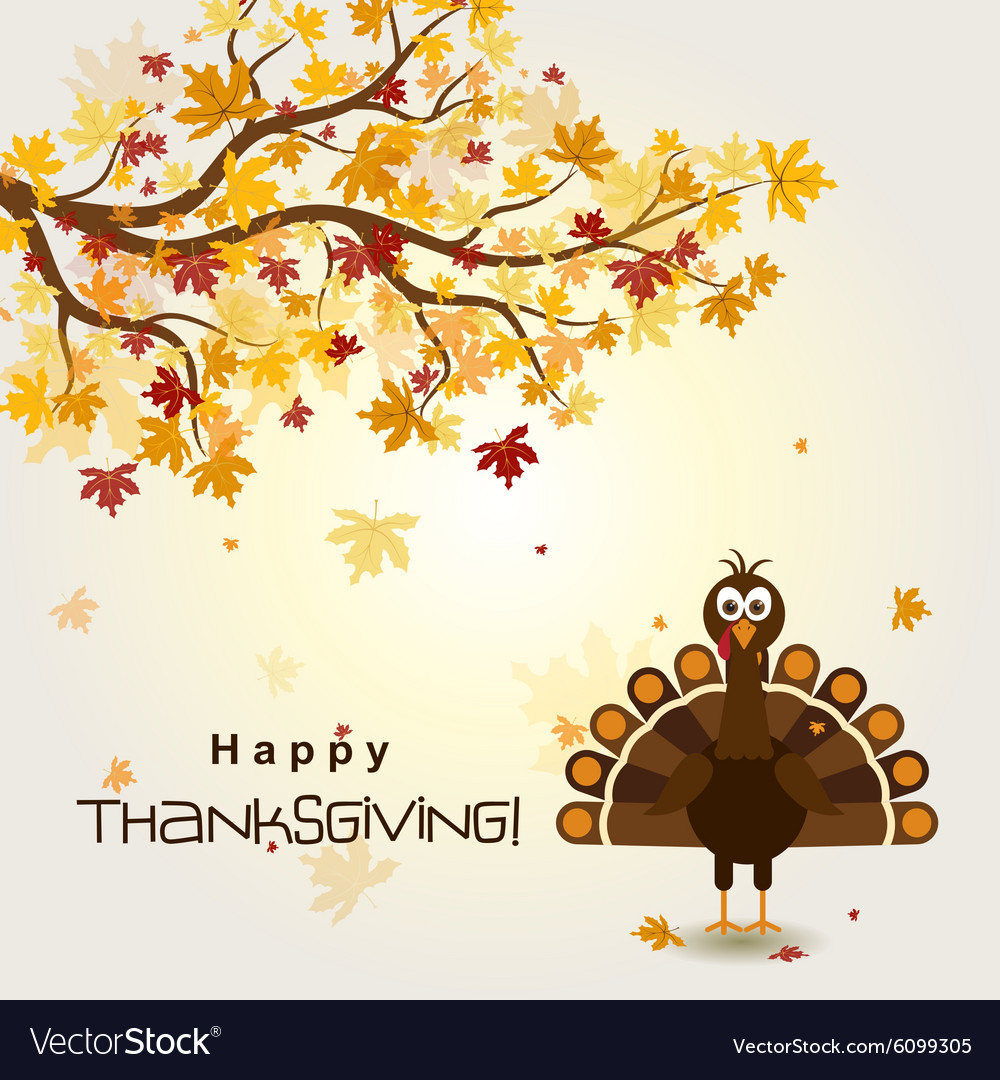 Template greeting card with a happy thanksgiving t vector