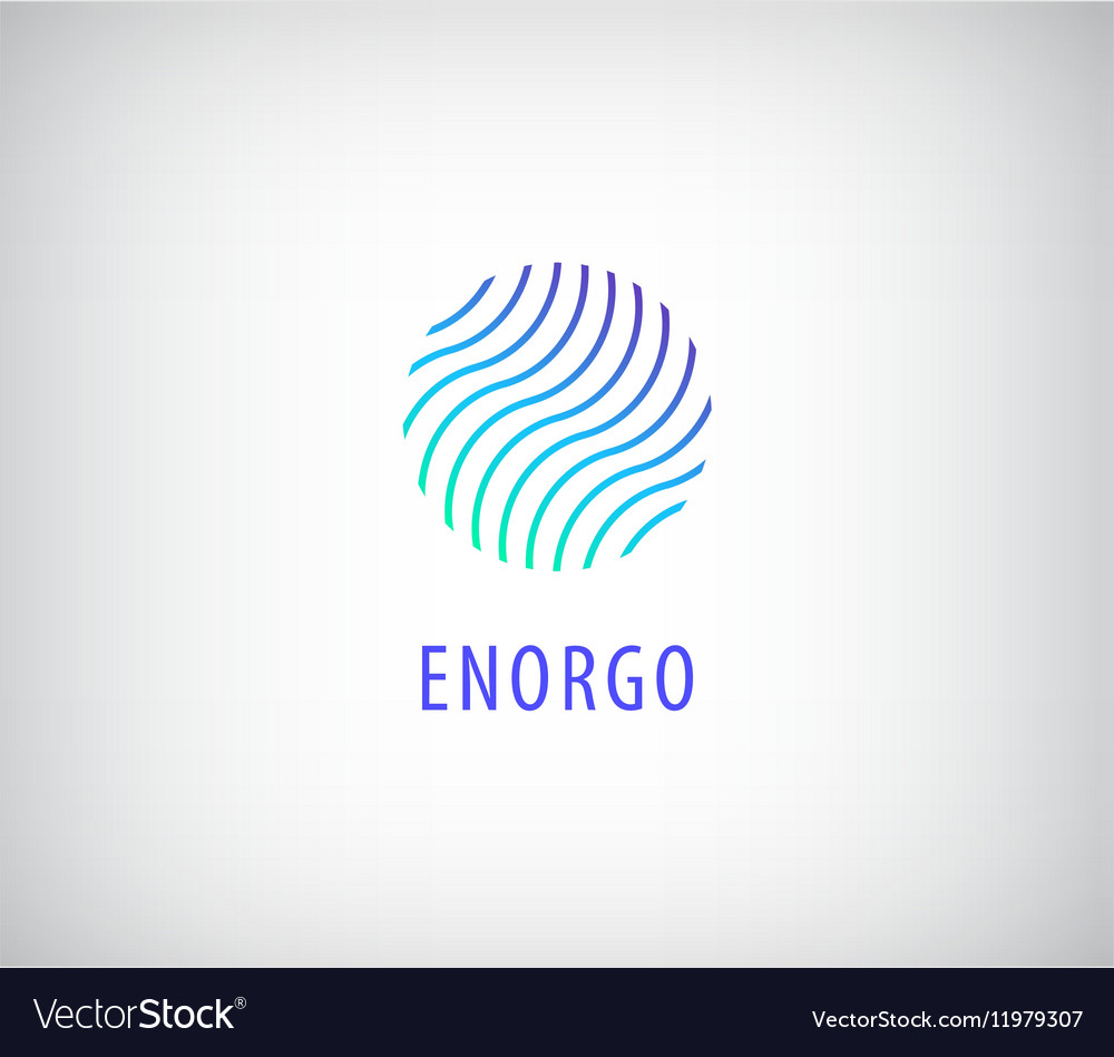 Abstract waves in circle colorful logo vector