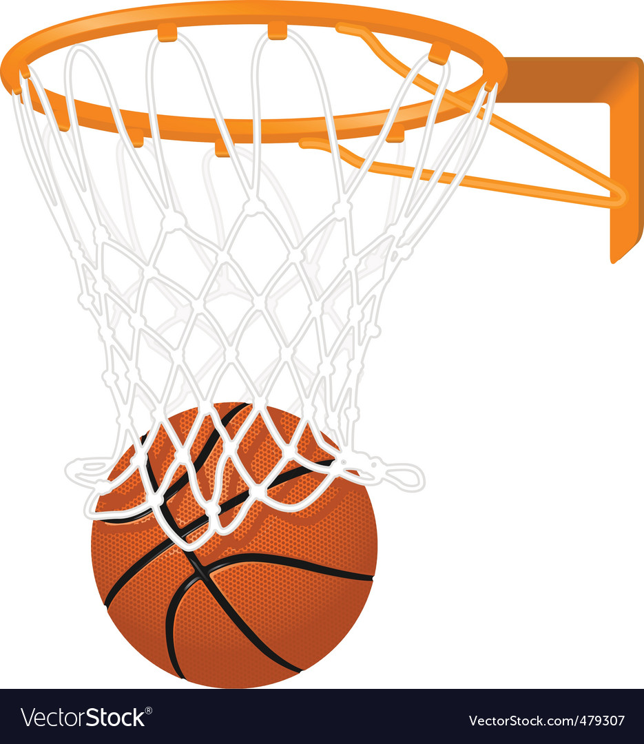 Basketball hoop and ball vector