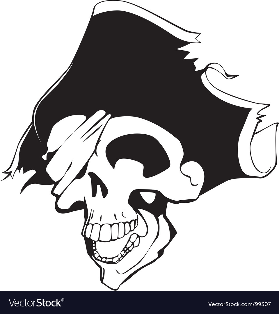 Pirate skull vector