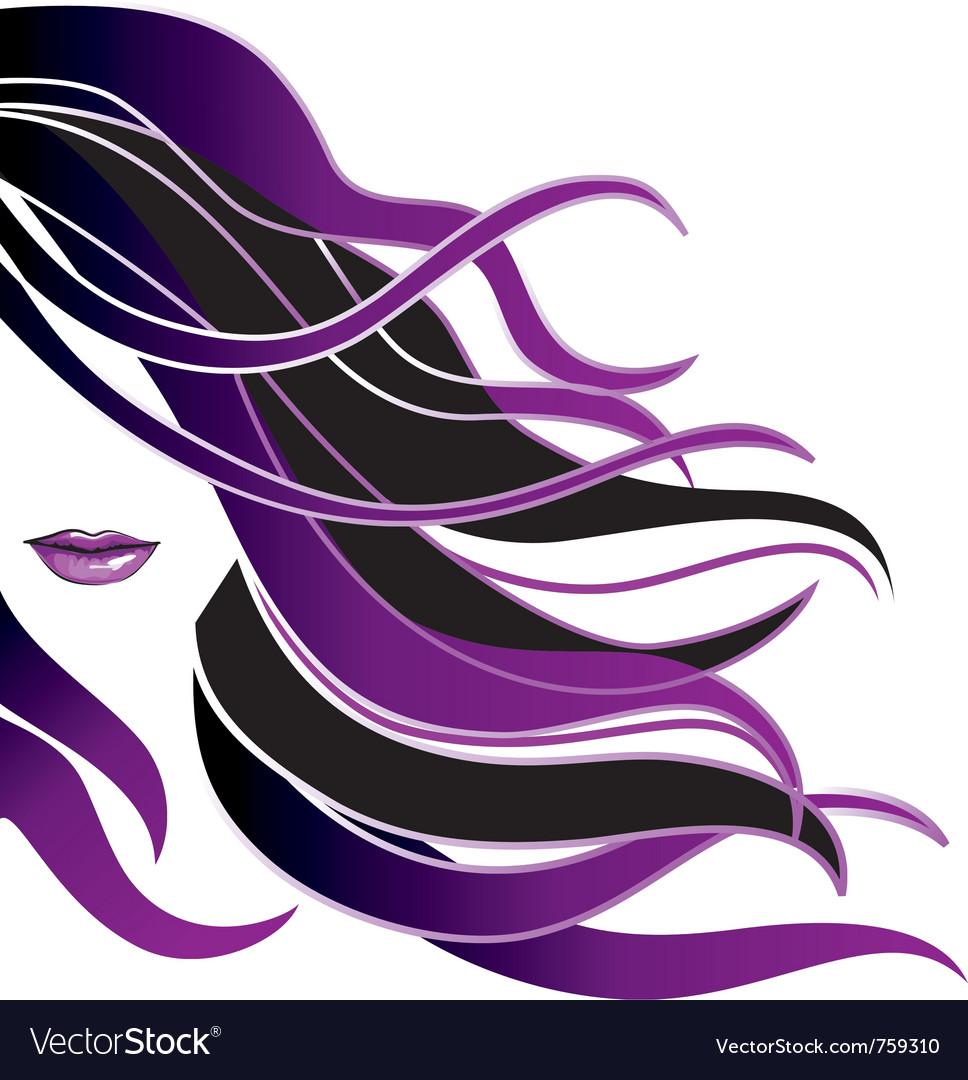 Hair icon beautiful girl icon with long hair vector