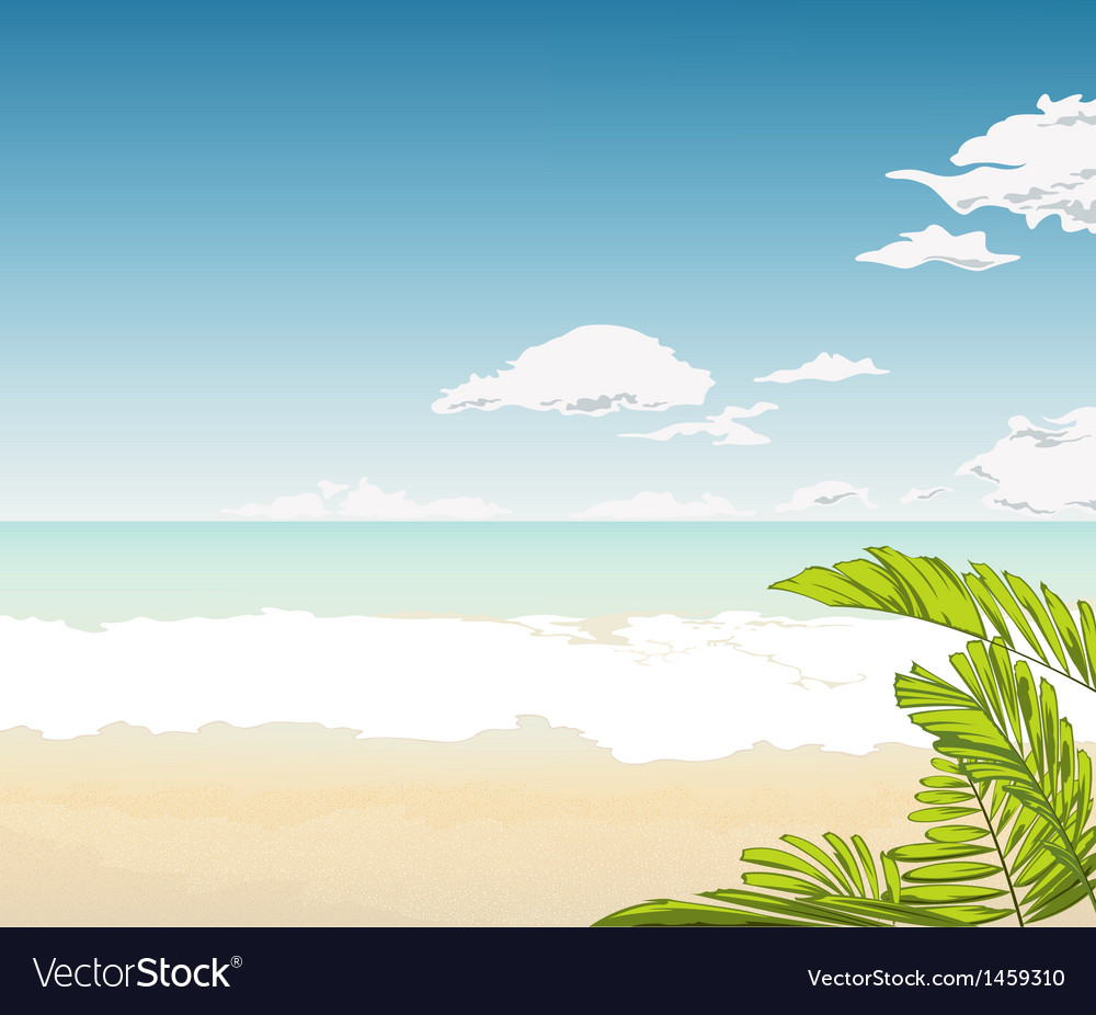 Tropical beach background vector