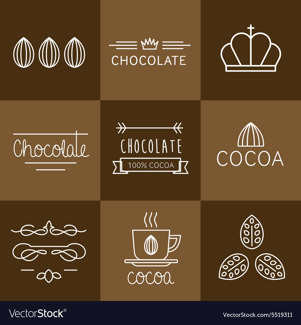 Cocoa icon set vector
