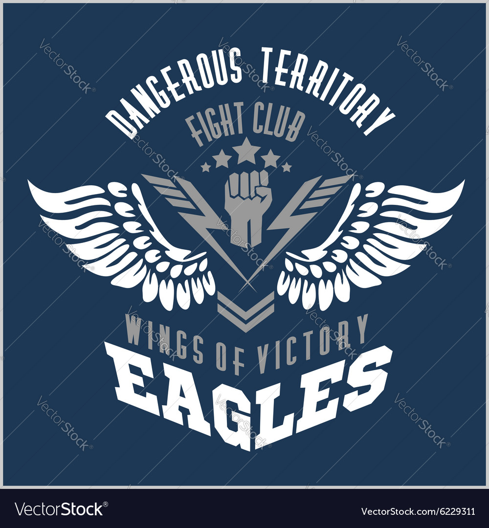 Eagle wings  military label badges and design vector