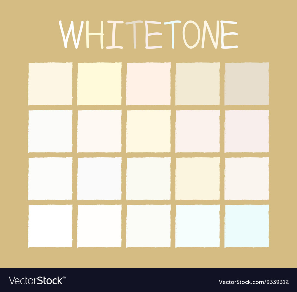 Whitetone color tone without name vector