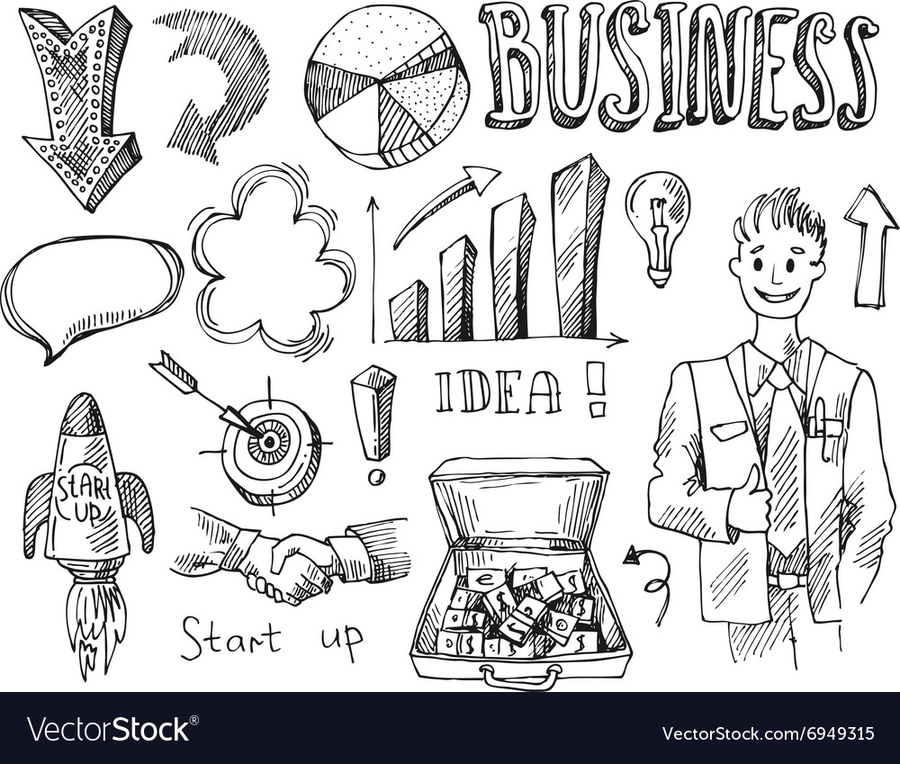 Business sketch vector