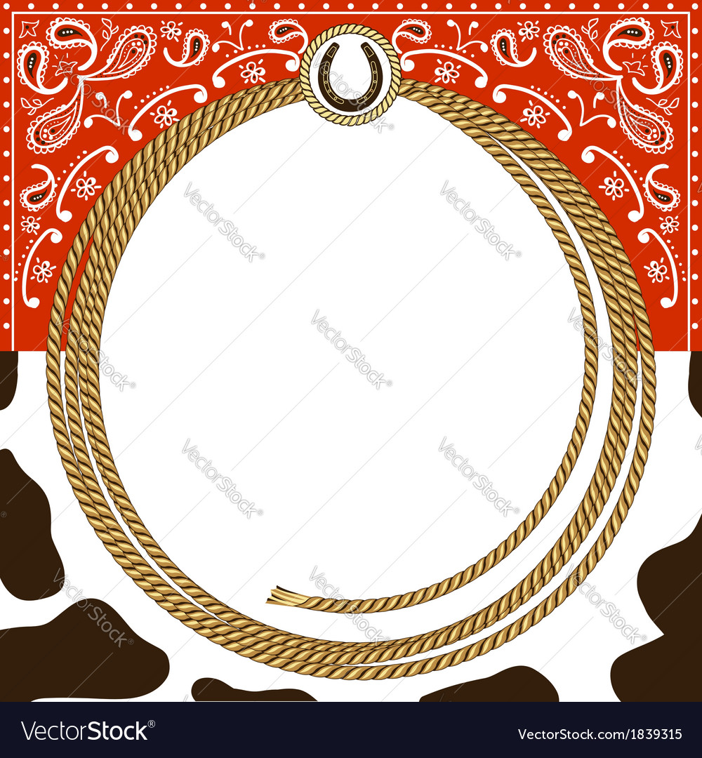 Cowboy card background vector