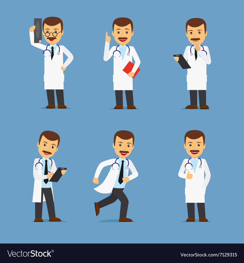 Doctor character with xray and stethoscope vector