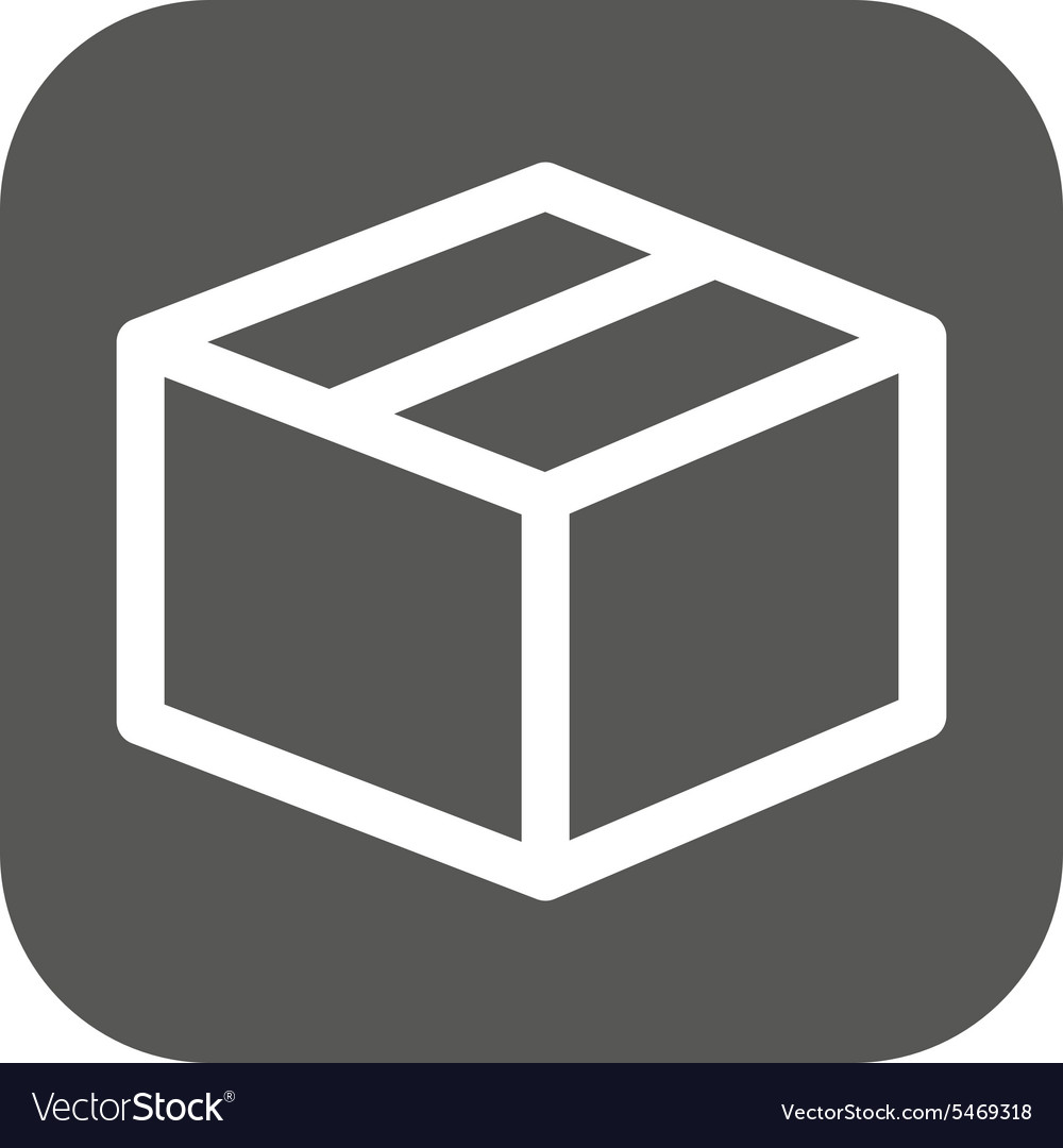 Box icon delivery and shipping symbol flat vector