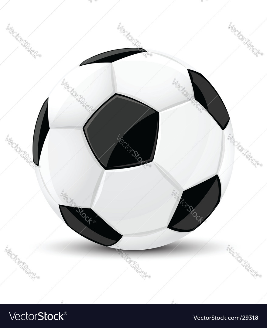 Soccer game ball isolated vector