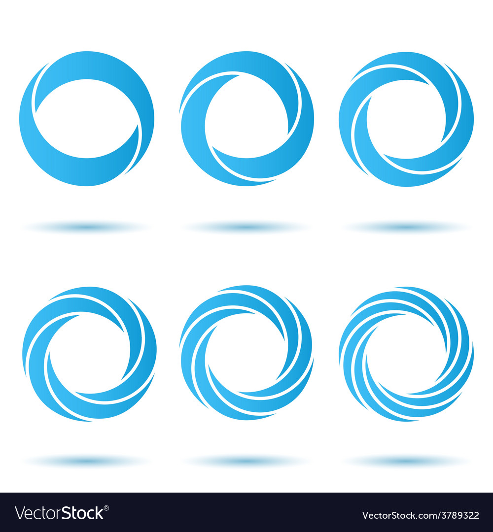 Segmented o letter set vector
