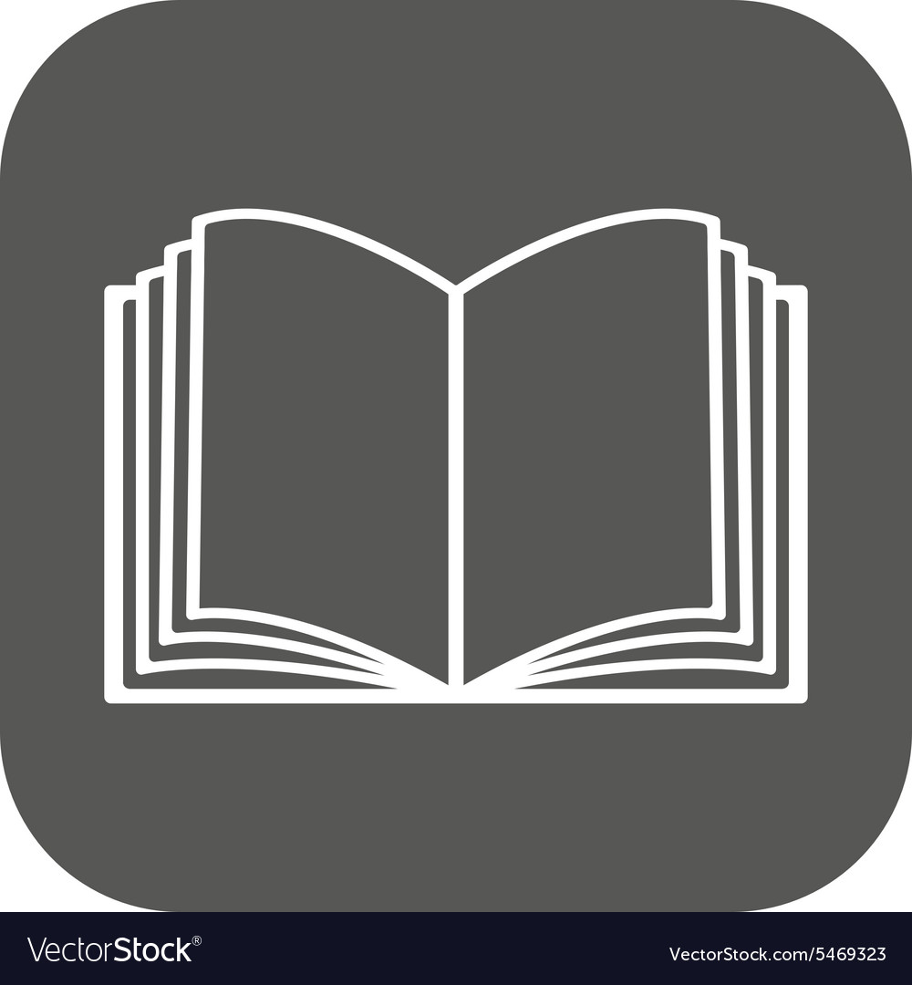 Open book icon manual and tutorial vector
