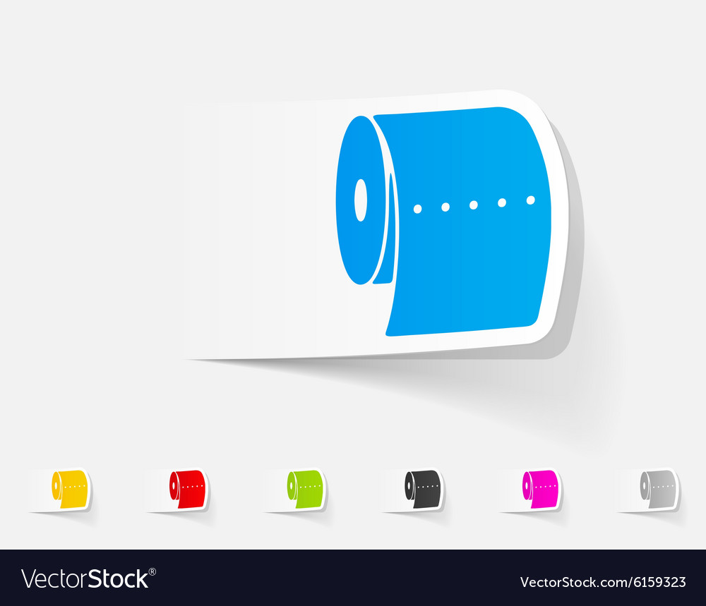 Realistic design element toilet paper vector