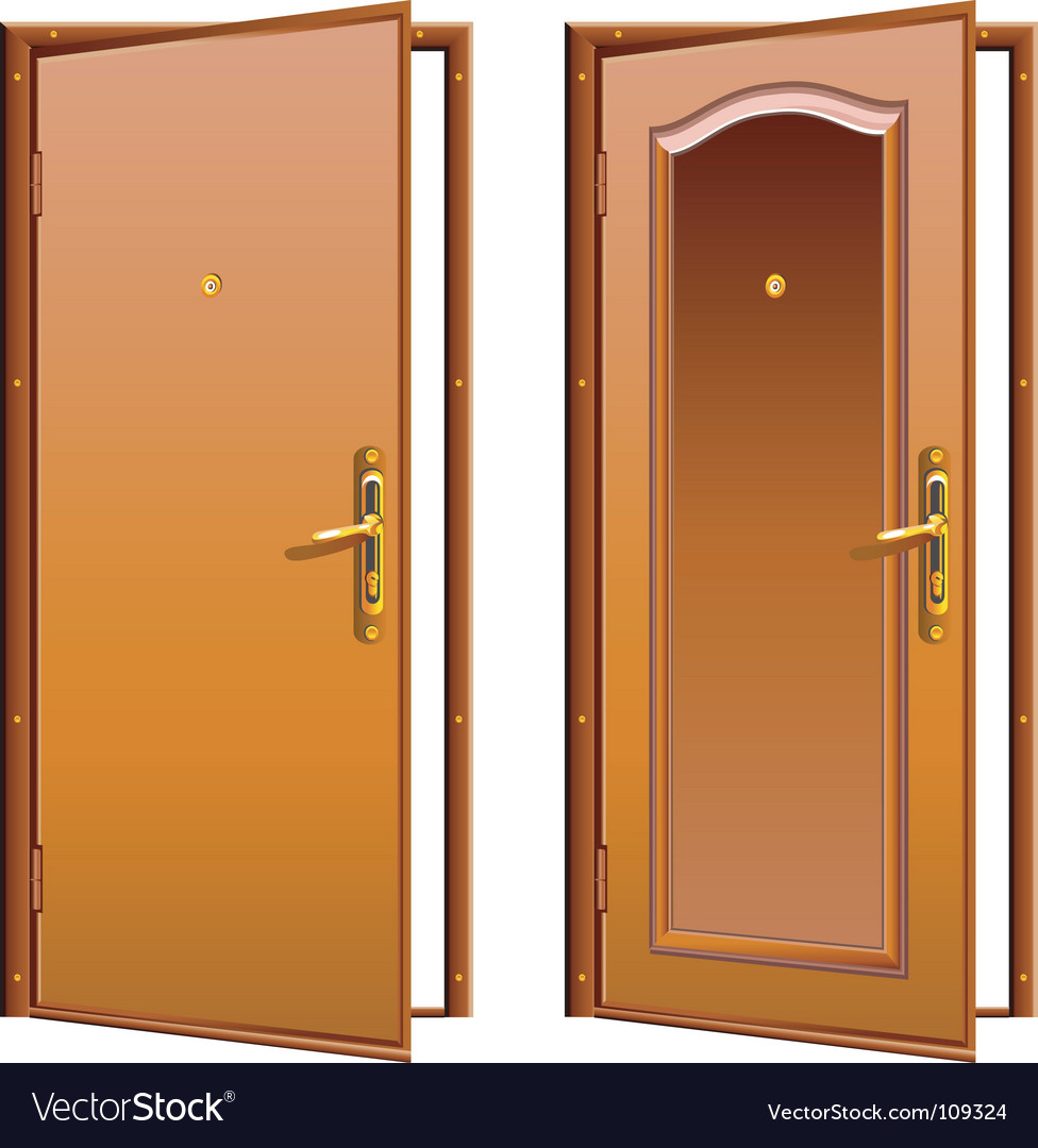 Door opened vector