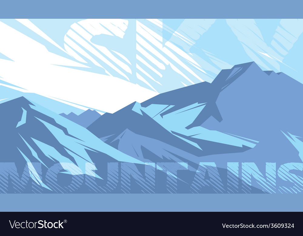 Mountains sky vector
