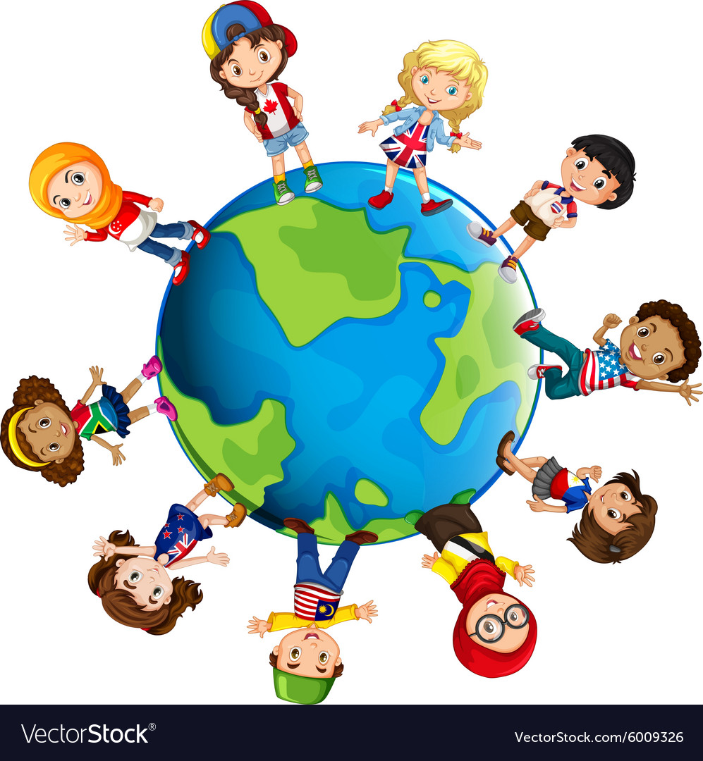 Children from different countries of the world vector