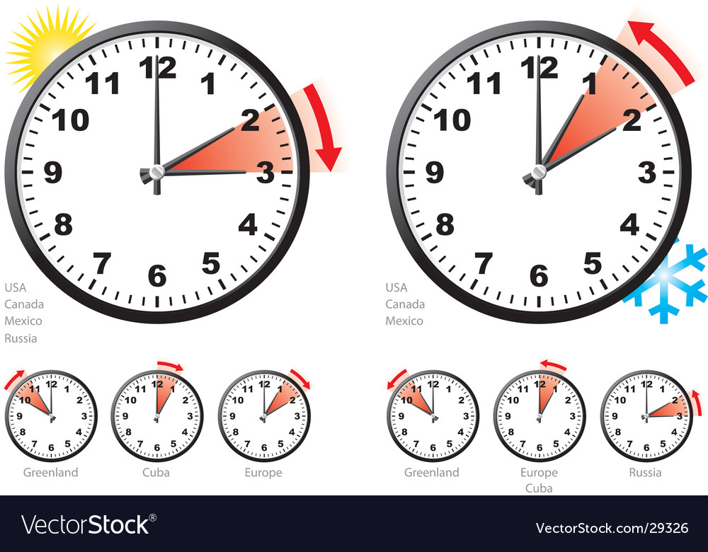 Daylight saving time vector