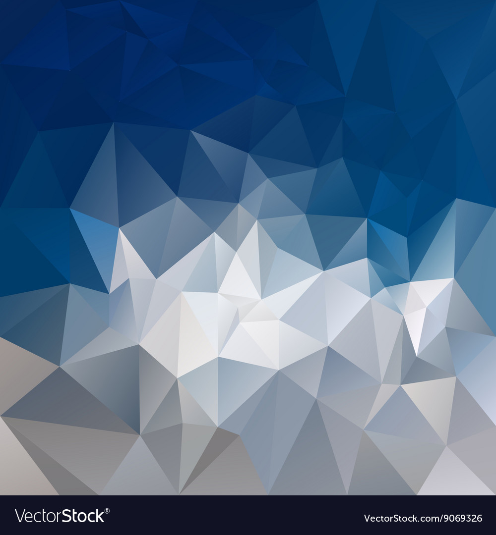 Mountain gray blue abstract polygon triangular vector