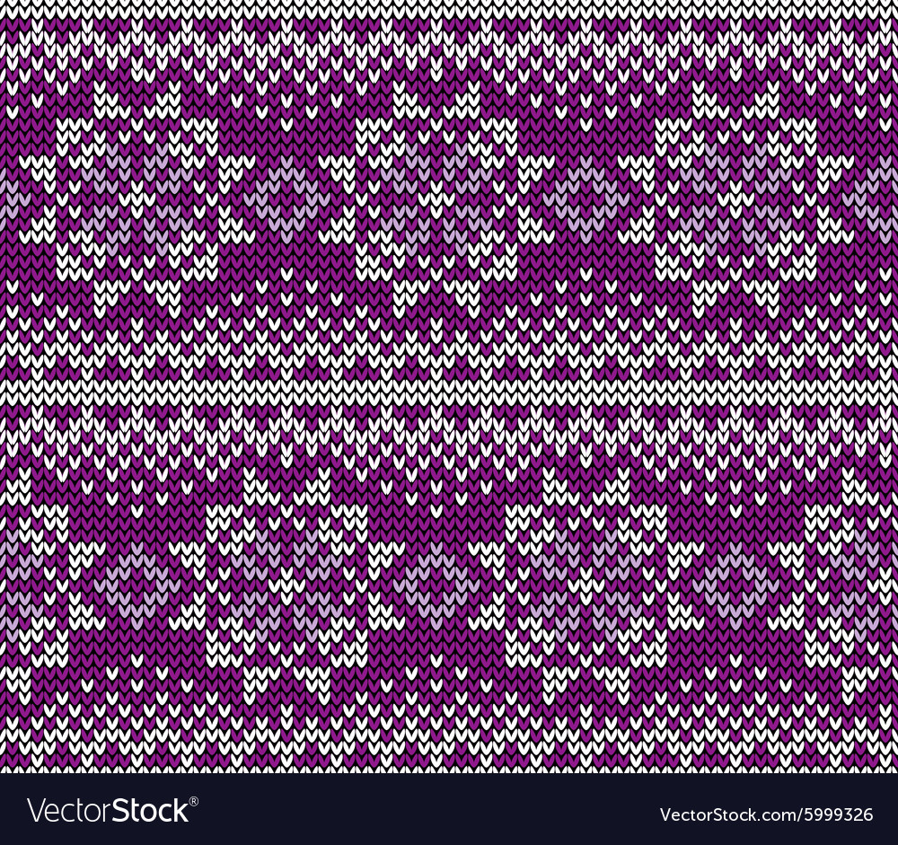 Seamless wool knitted pattern vector