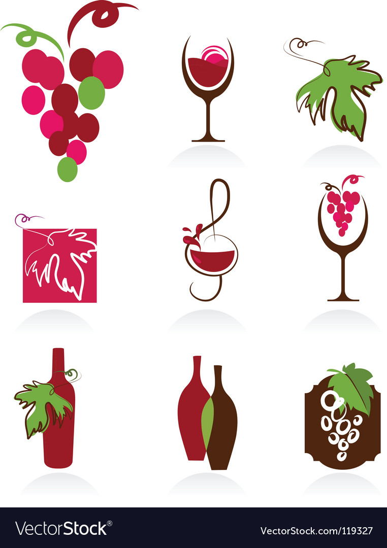 Wine design elements vector