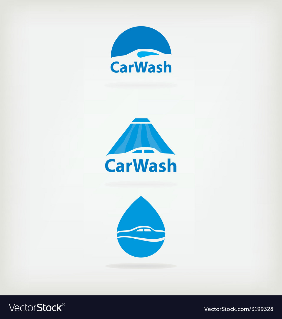 Logo car wash vector