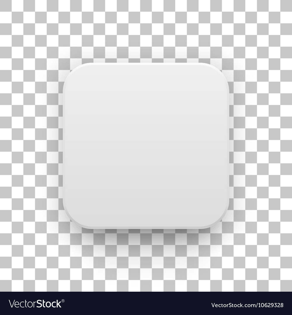 White blank app icon button template vector
