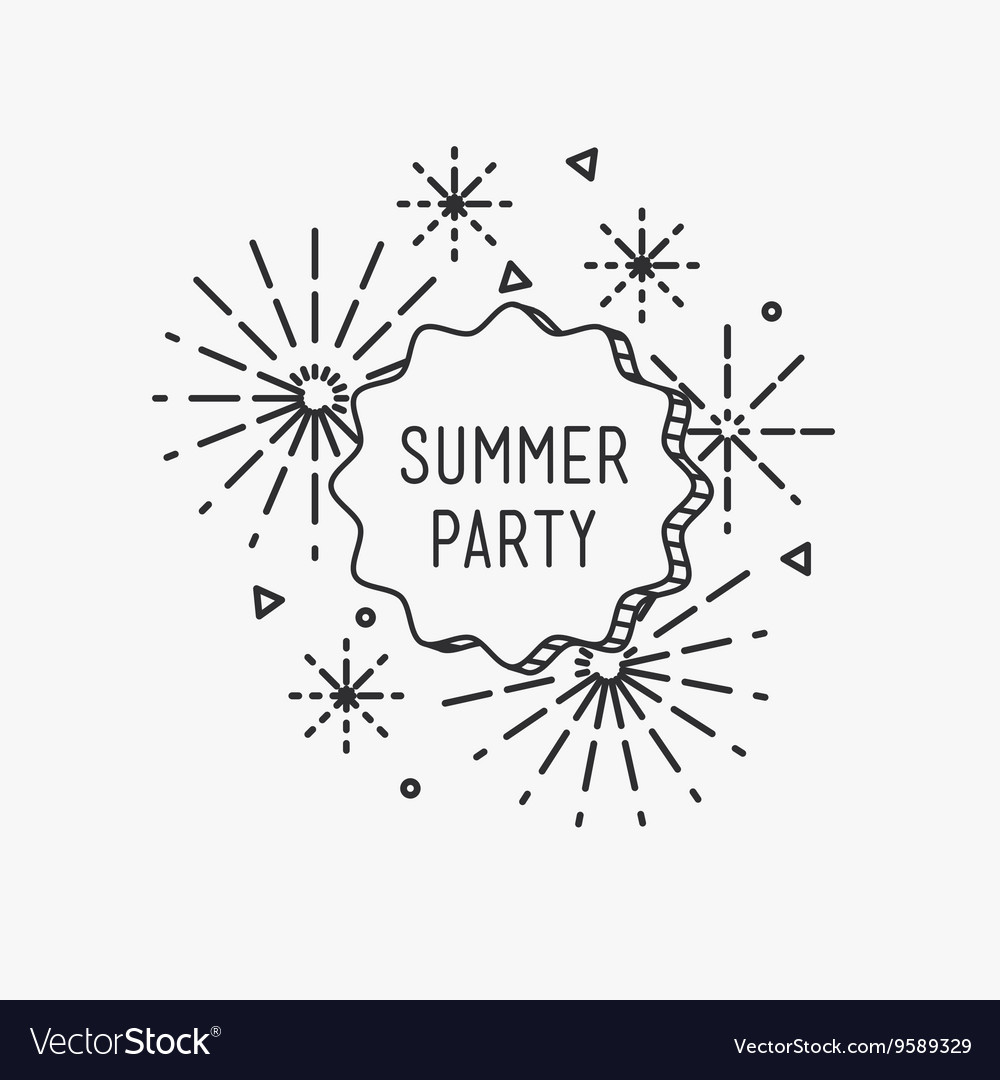 Summer party inspirational vector