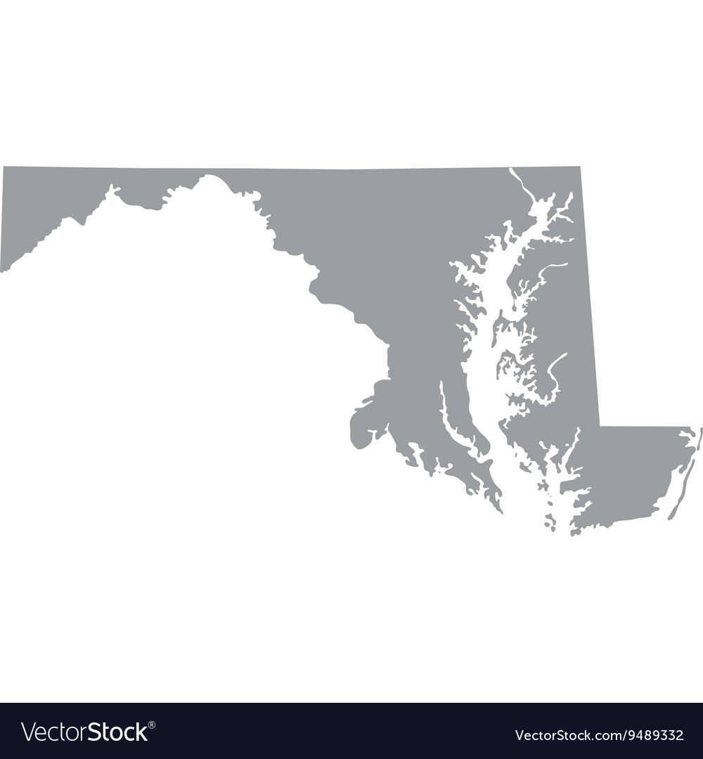 Us state of maryland vector