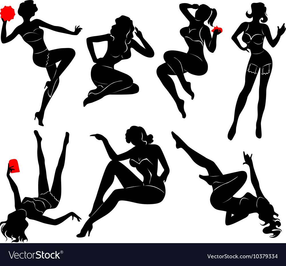 Pin up girl  3 vector