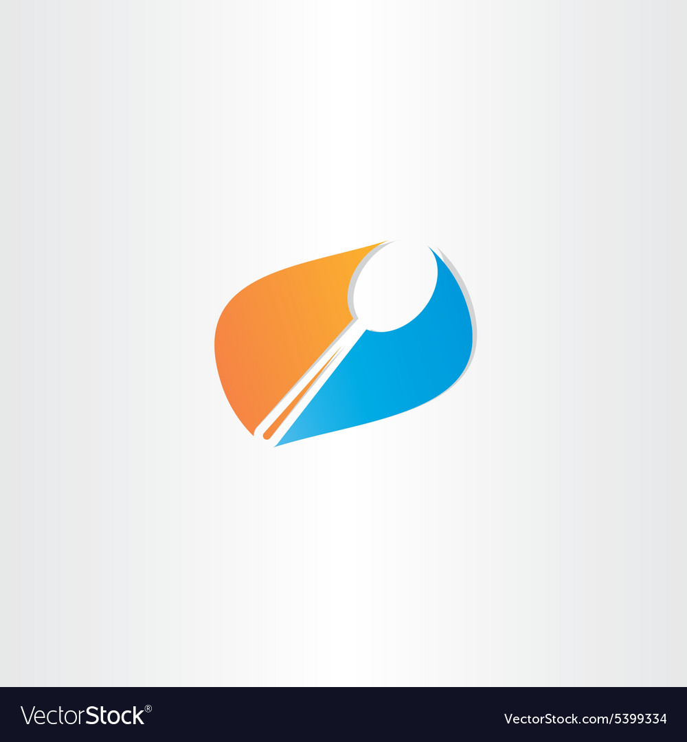 Spoon logo symbol design vector