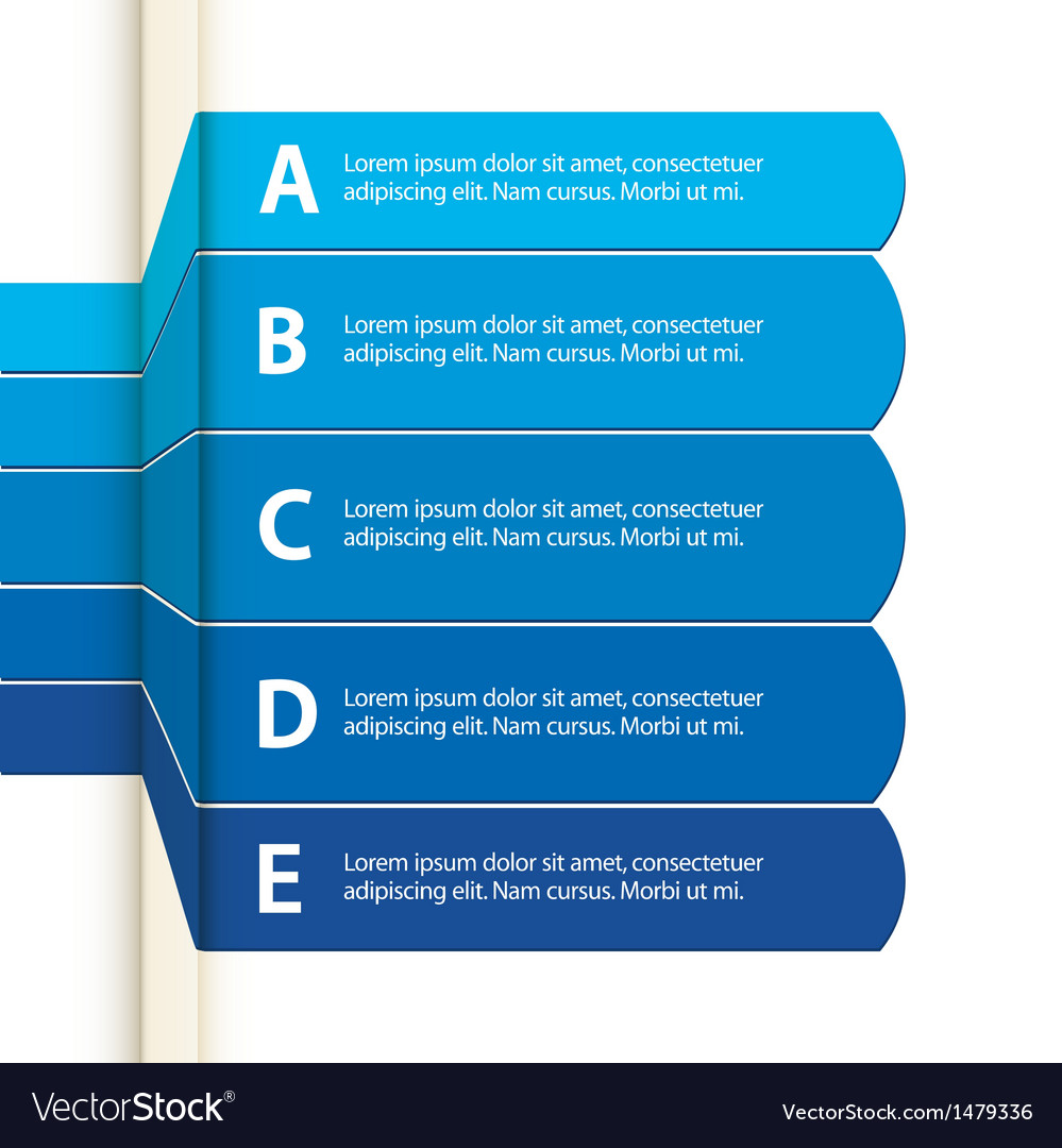 Blue paper infographic vector