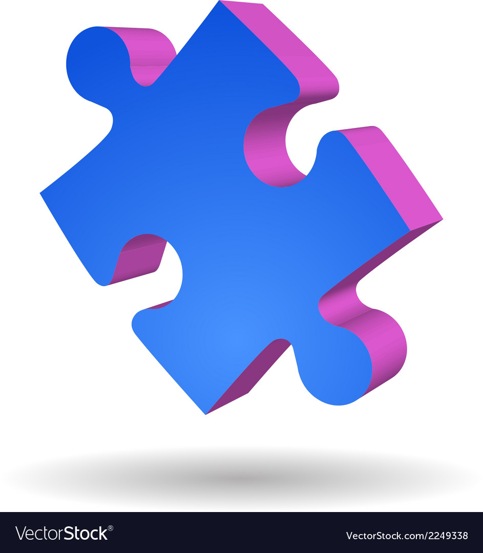 Puzzle piece isolated vector