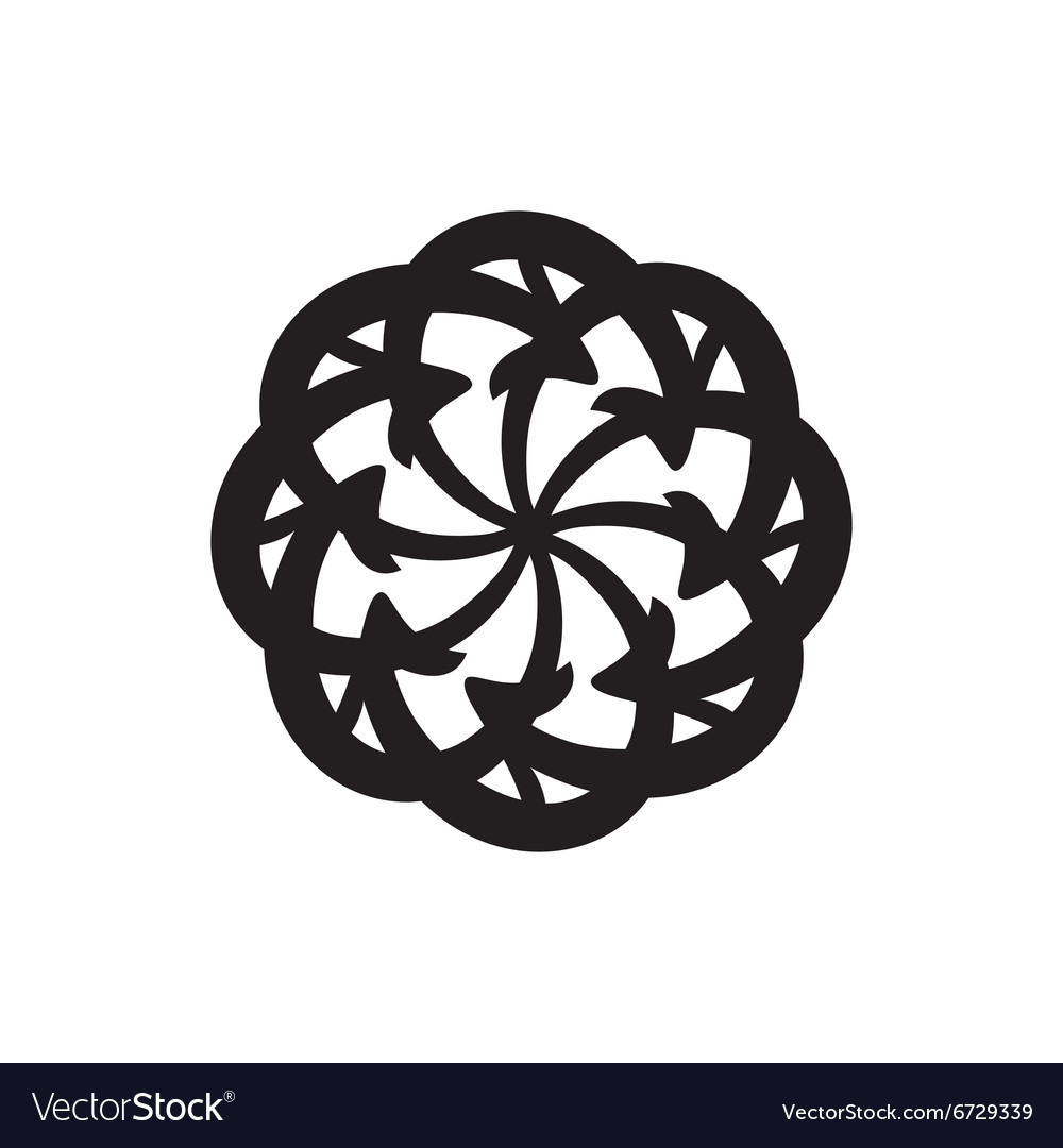 Cycle arrows circle diagram isolated vector