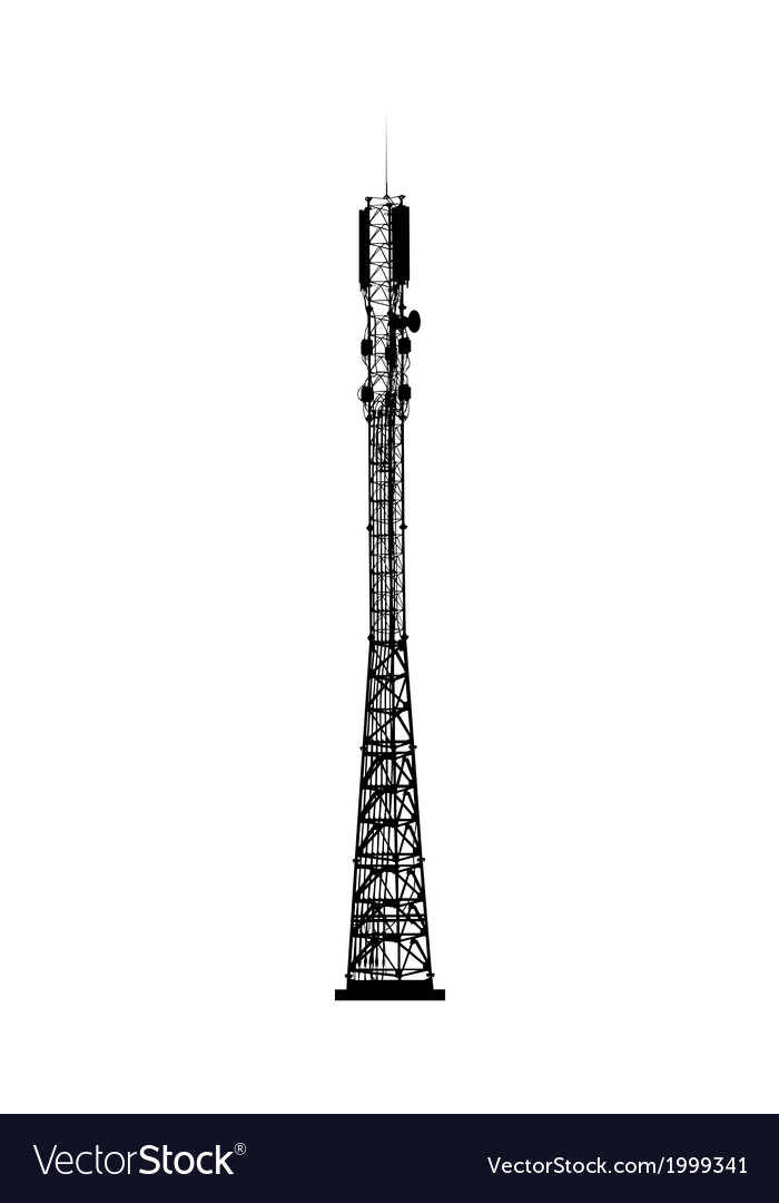 Mobile telecommunications tower vector