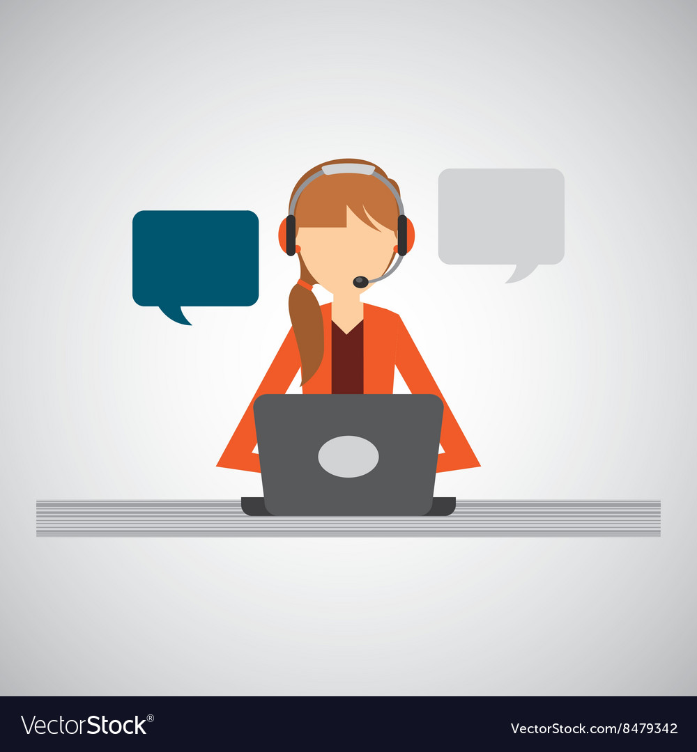 Call center design vector