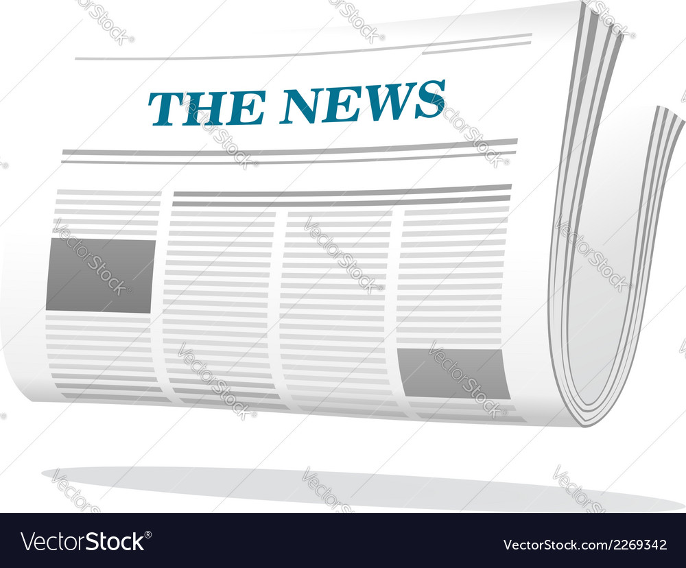 Folded newspaper icon vector