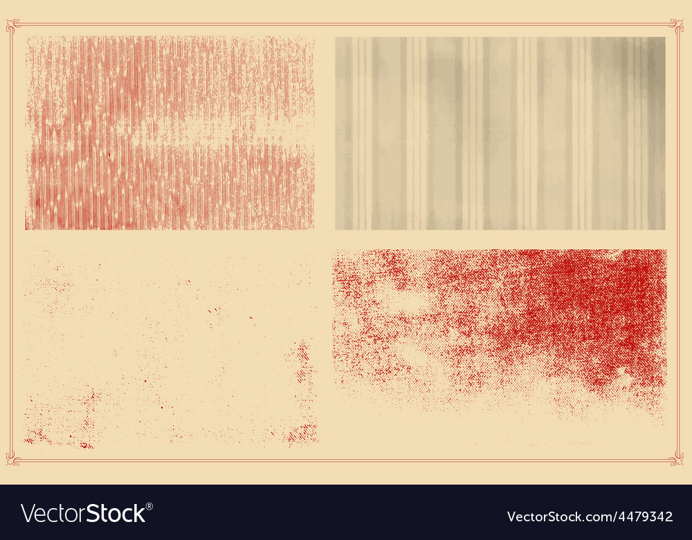 Grunge textures set background vector