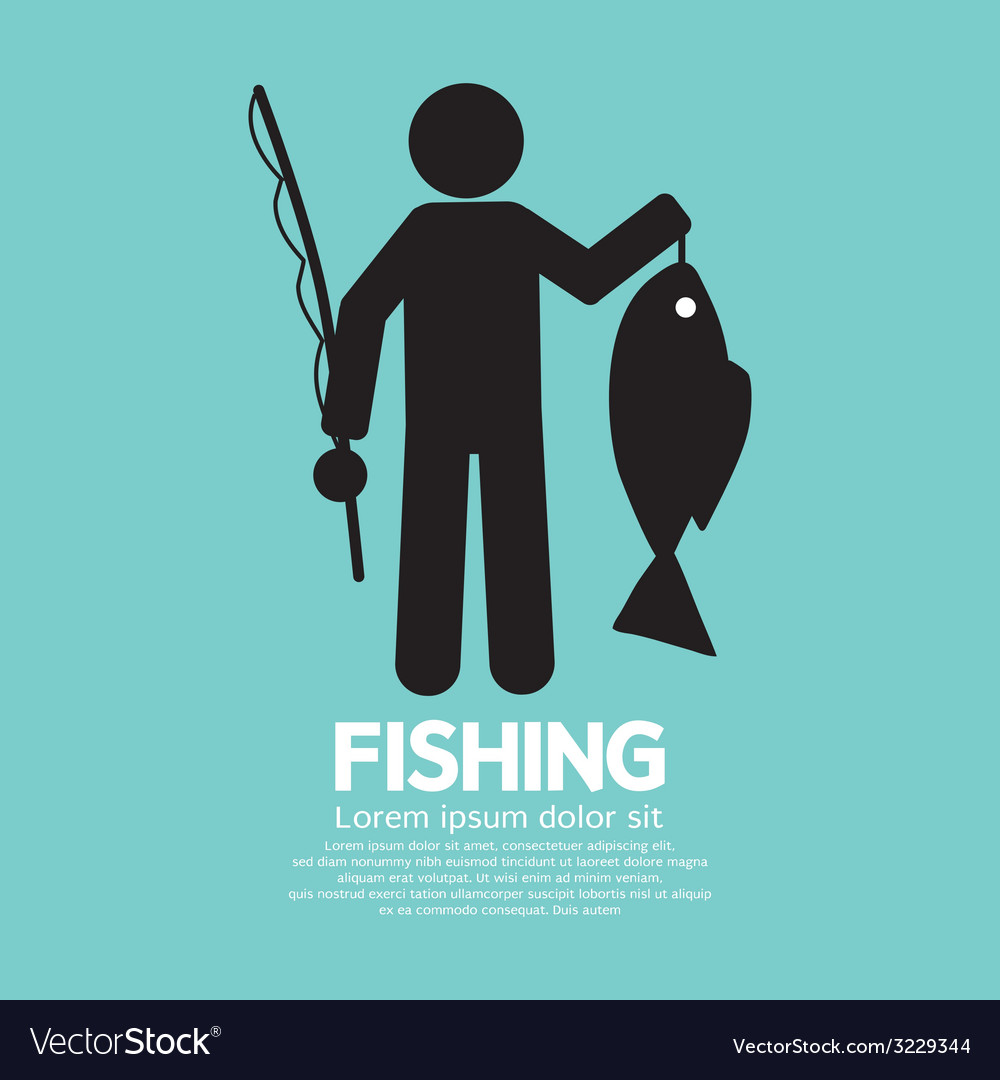 Fishing graphic sign vector